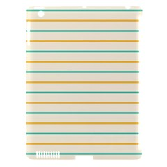 Horizontal Line Yellow Blue Orange Apple iPad 3/4 Hardshell Case (Compatible with Smart Cover)