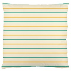 Horizontal Line Yellow Blue Orange Large Cushion Case (Two Sides)
