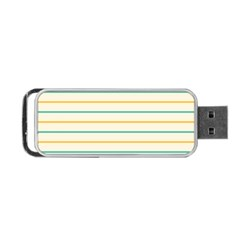 Horizontal Line Yellow Blue Orange Portable USB Flash (Two Sides)