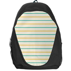 Horizontal Line Yellow Blue Orange Backpack Bag