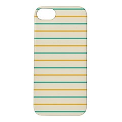 Horizontal Line Yellow Blue Orange Apple iPhone 5S/ SE Hardshell Case