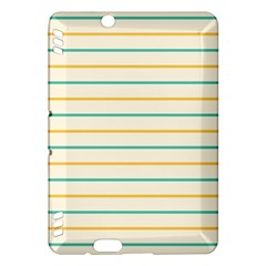 Horizontal Line Yellow Blue Orange Kindle Fire HDX Hardshell Case