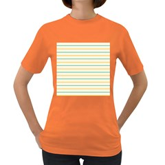 Horizontal Line Yellow Blue Orange Women s Dark T-Shirt