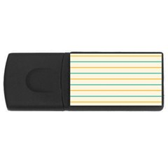 Horizontal Line Yellow Blue Orange USB Flash Drive Rectangular (4 GB)