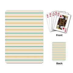 Horizontal Line Yellow Blue Orange Playing Card