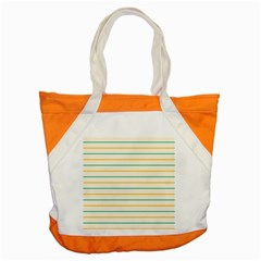 Horizontal Line Yellow Blue Orange Accent Tote Bag