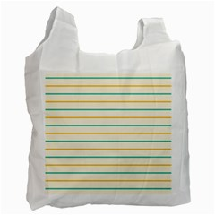 Horizontal Line Yellow Blue Orange Recycle Bag (One Side)