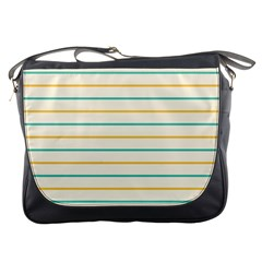 Horizontal Line Yellow Blue Orange Messenger Bags