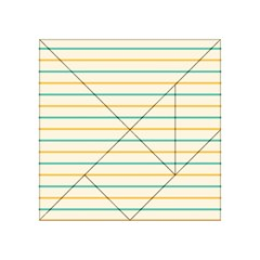 Horizontal Line Yellow Blue Orange Acrylic Tangram Puzzle (4  x 4 )