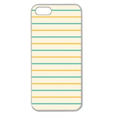 Horizontal Line Yellow Blue Orange Apple Seamless iPhone 5 Case (Clear)