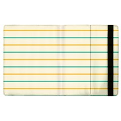 Horizontal Line Yellow Blue Orange Apple iPad 3/4 Flip Case