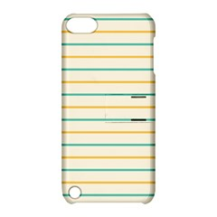 Horizontal Line Yellow Blue Orange Apple iPod Touch 5 Hardshell Case with Stand