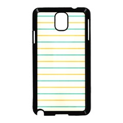 Horizontal Line Yellow Blue Orange Samsung Galaxy Note 3 Neo Hardshell Case (Black)