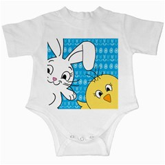 Easter bunny and chick  Infant Creepers