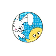 Easter bunny and chick  Hat Clip Ball Marker (10 pack)