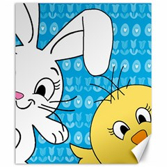 Easter bunny and chick  Canvas 20  x 24