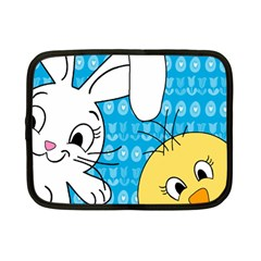 Easter bunny and chick  Netbook Case (Small)