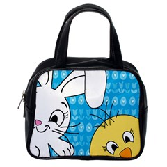 Easter bunny and chick  Classic Handbags (One Side)