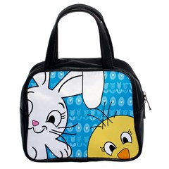 Easter bunny and chick  Classic Handbags (2 Sides)