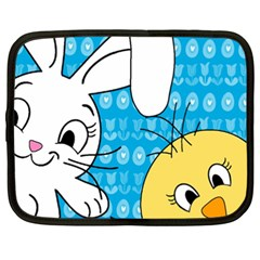 Easter bunny and chick  Netbook Case (XXL)