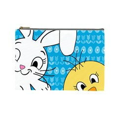 Easter bunny and chick  Cosmetic Bag (Large)