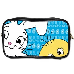 Easter bunny and chick  Toiletries Bags 2-Side