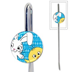 Easter bunny and chick  Book Mark
