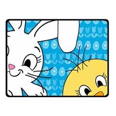 Easter bunny and chick  Fleece Blanket (Small)