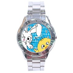 Easter bunny and chick  Stainless Steel Analogue Watch