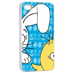 Easter bunny and chick  Apple iPhone 4/4s Seamless Case (White)