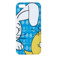 Easter bunny and chick  Apple iPhone 5 Premium Hardshell Case