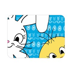 Easter Bunny And Chick  Double Sided Flano Blanket (mini)