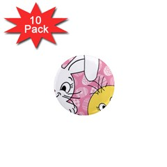 Easter bunny and chick  1  Mini Magnet (10 pack)