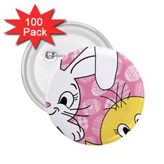 Easter bunny and chick  2.25  Buttons (100 pack)