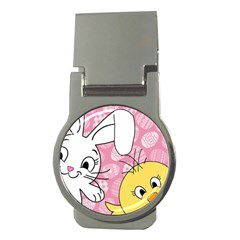 Easter bunny and chick  Money Clips (Round)