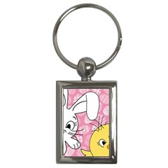 Easter bunny and chick  Key Chains (Rectangle)