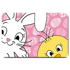 Easter bunny and chick  Large Doormat