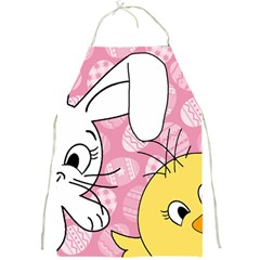 Easter bunny and chick  Full Print Aprons