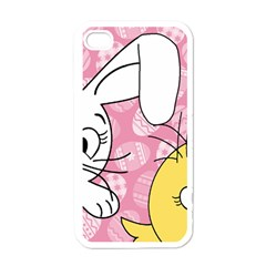 Easter bunny and chick  Apple iPhone 4 Case (White)