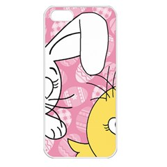 Easter bunny and chick  Apple iPhone 5 Seamless Case (White)