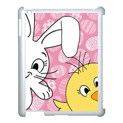 Easter bunny and chick  Apple iPad 3/4 Case (White)