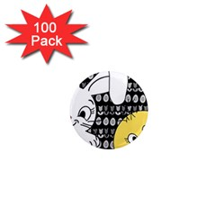 Easter bunny and chick  1  Mini Magnets (100 pack)