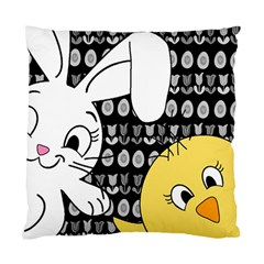 Easter bunny and chick  Standard Cushion Case (One Side)
