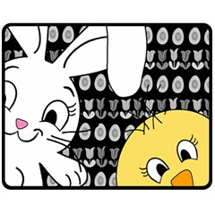 Easter bunny and chick  Fleece Blanket (Medium)
