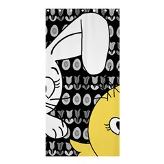 Easter bunny and chick  Shower Curtain 36  x 72  (Stall)