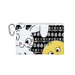 Easter bunny and chick  Canvas Cosmetic Bag (S)