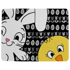 Easter bunny and chick  Jigsaw Puzzle Photo Stand (Rectangular)