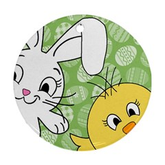 Easter bunny and chick  Ornament (Round)