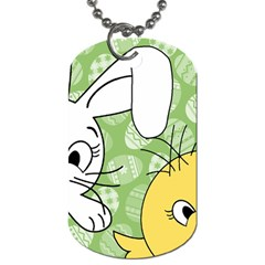 Easter bunny and chick  Dog Tag (Two Sides)
