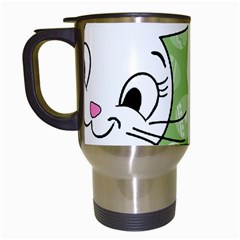 Easter bunny and chick  Travel Mugs (White)
